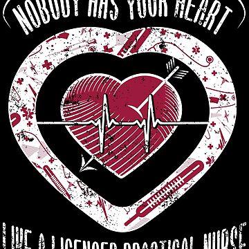 Nurse Valentines Shirt Licensed Practical Nurse Mom by shoppzee