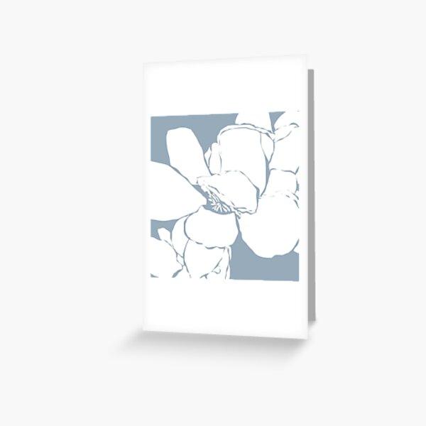 Frangipani 2 in Blue Greeting Card