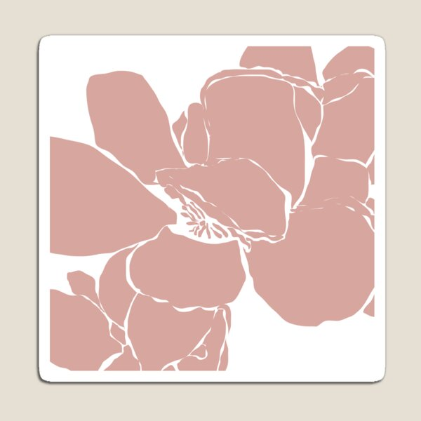 Frangipani 2 in Dusty Pink Magnet