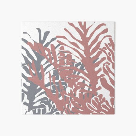 Palms in dusty blue and pink Art Board Print