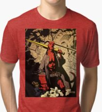 Hellboy The Storm and The Fury Copy Tri-blend T-Shirt