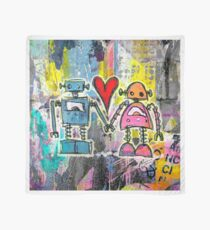 Graffiti Pop Robot Love Scarf
