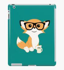 Hipster Fox iPad-Hülle & Klebefolie