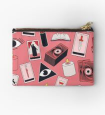 Tarot Iconography on Pink Studio Pouch