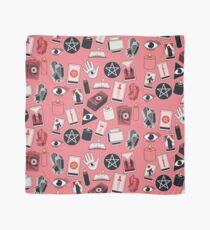 Tarot Iconography on Pink Scarf
