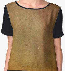 Ancient Copper and Rust Metallic Leather Like Texture Chiffon Top