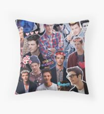 Grant Gustin Collage Throw Pillow