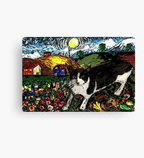 Tasha's Starry Night Out Canvas Print