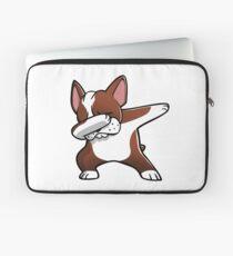 Funny Fawn Boston Terrier Dabbing Laptop Sleeve