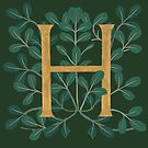 Forest Leaves Letter H 2018 by Donna Huntriss