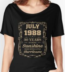 July 1988 Sunshine mixed Hurricane Women's Relaxed Fit T-Shirt