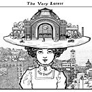 Tacoma WA Edwardian cartoon: The Very Latest. by Lillian Ripley