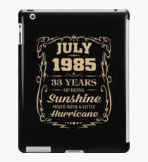 July 1985 Sunshine mixed Hurricane iPad Case/Skin