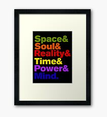 Infinity Stones Colored Framed Print