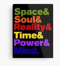 Infinity Stones Colored Metal Print