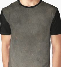 Ancient Black Leather Like Texture Graphic T-Shirt