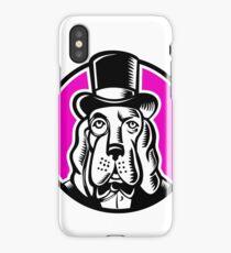 Basset Hound Monocle Top Hat iPhone Case