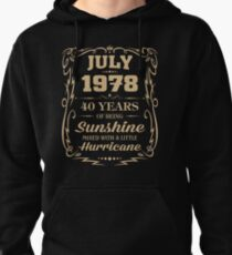July 1978 Sunshine mixed Hurricane Pullover Hoodie