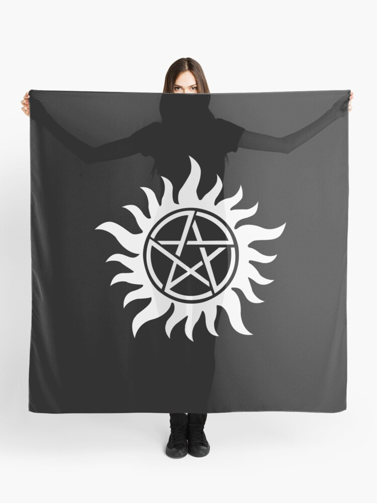 Anti-Possession Tattoo Symbol White Version - Supernatural Inspired | Scarf