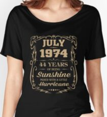 July 1974 Sunshine mixed Hurricane Women's Relaxed Fit T-Shirt