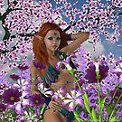 Among The Flowers III by Barbara A. Boal