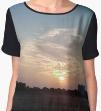 Sunset, sunrise, New York, Manhattan, New York City, Skyscraper, tower block, high rise building, tower, block, high rise, building Chiffon Top
