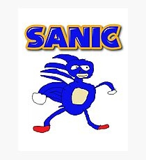 Sega Sanic Hedgehog  Photographic Print