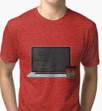 Coding and Coffee Tri-blend T-Shirt