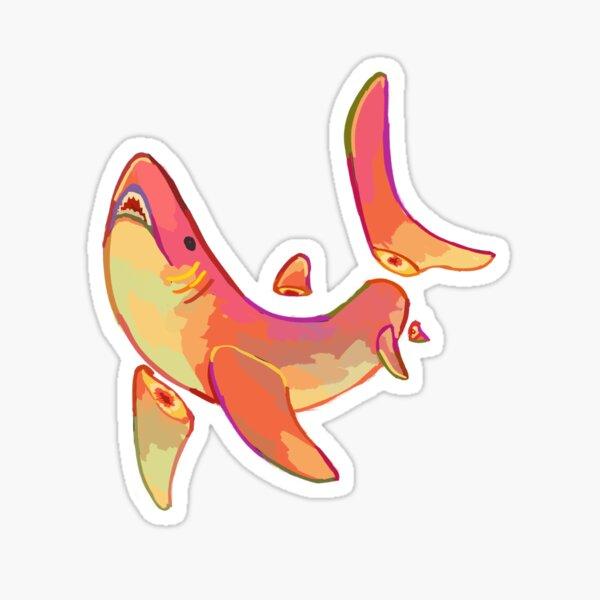 Peach Shark Sticker