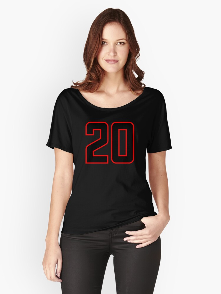 Number 20 (1-99) Women's Relaxed Fit T-Shirt Front