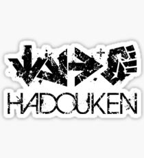 Hadouken Command Black Sticker