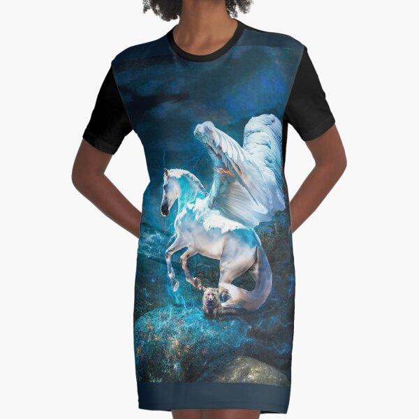 Flights of Fancy Graphic T-Shirt Dress
