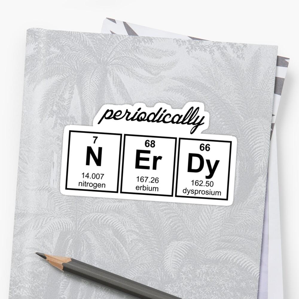 Periodically Nerdy Element Symbols by TheShirtYurt