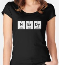 Periodically Nerdy Element Symbols Women's Fitted Scoop T-Shirt