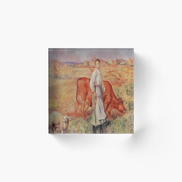 Shepherdess-Pierre-Auguste Renoir Acrylic Block