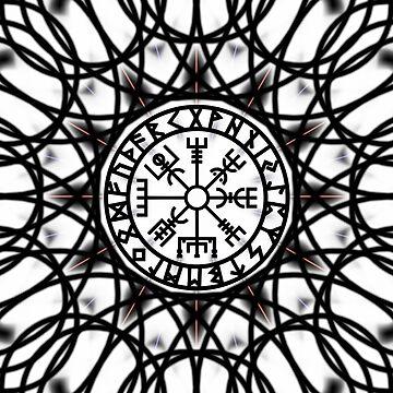 Vegvisir Futhark Runes Compass Vikings  by nitty-gritty