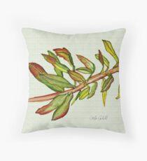 Leafy Stem Throw Pillow