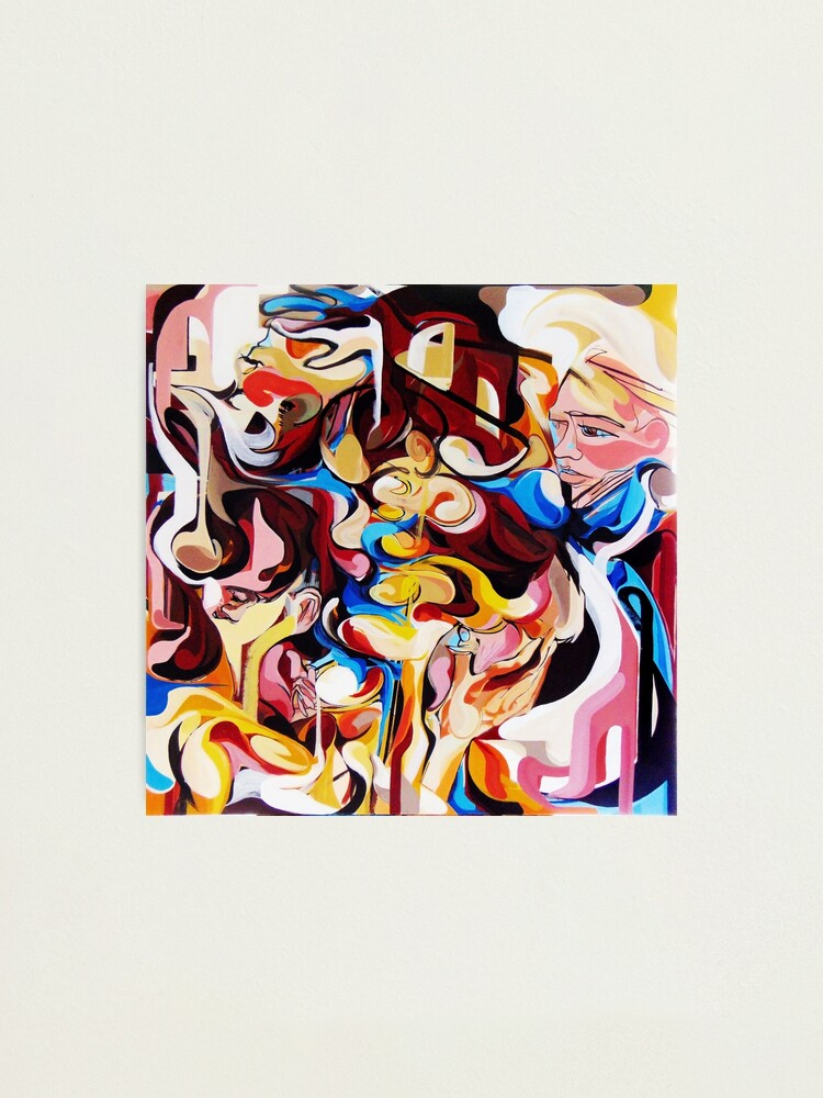 Alternate view of Expressive Abstract People Composition painting Photographic Print