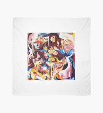 Expressive Abstract People Composition painting Scarf