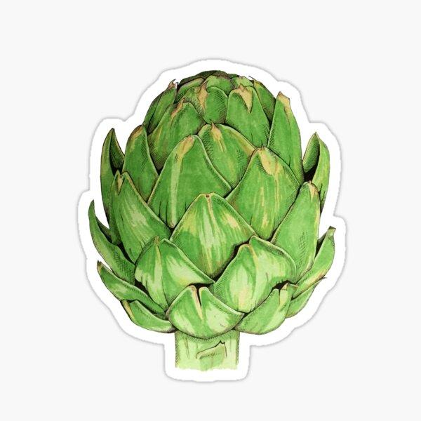Green globe artichoke  Sticker