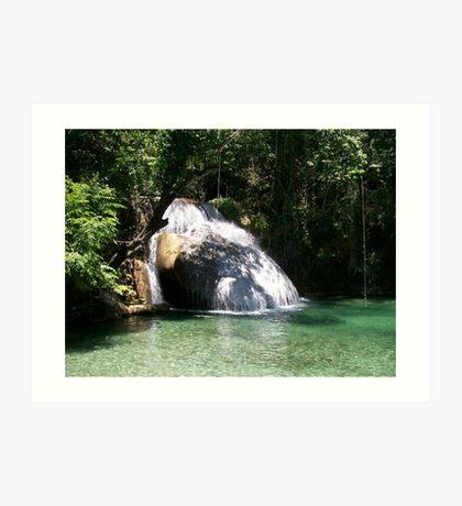 Huatulco Paradise Hidden Waterfall  Art Print