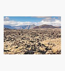 Iceland Caked Lava field landscape Photographic Print