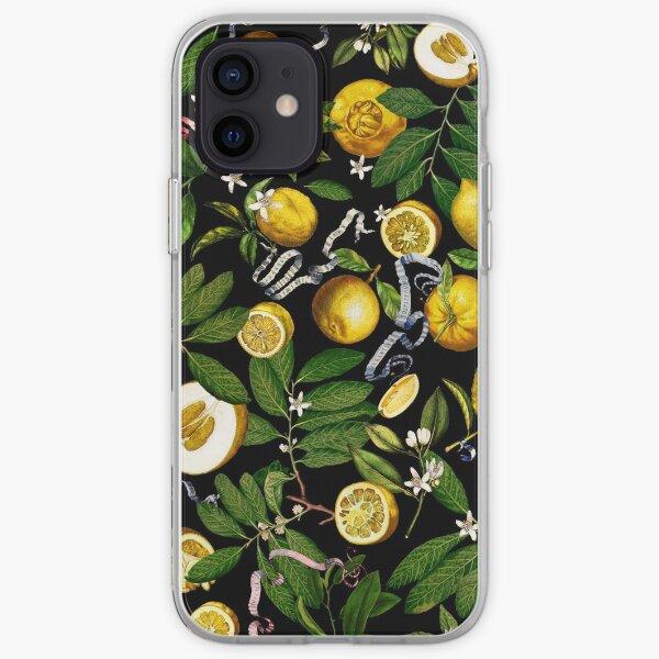 Lemon Tree - Black iPhone Soft Case