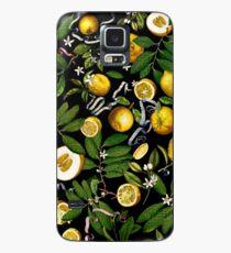 Zitronenbaum - Schwarz Hülle & Klebefolie für Samsung Galaxy
