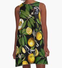 Lemon Tree - Black A-Line Dress