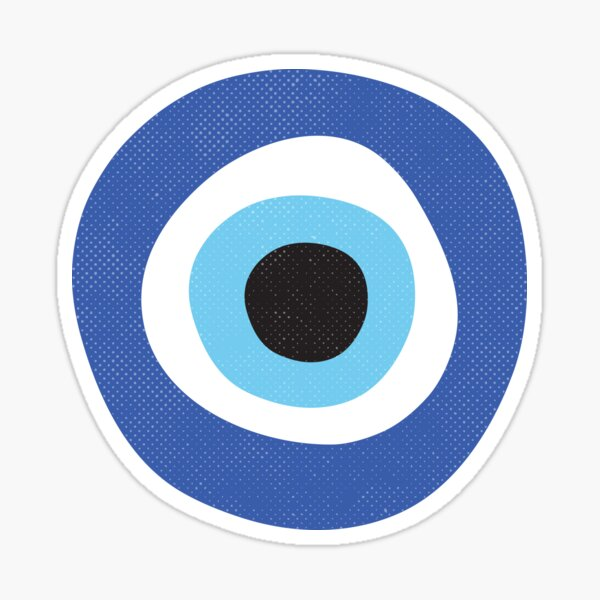 Evil Eye Protection Symbol Sticker