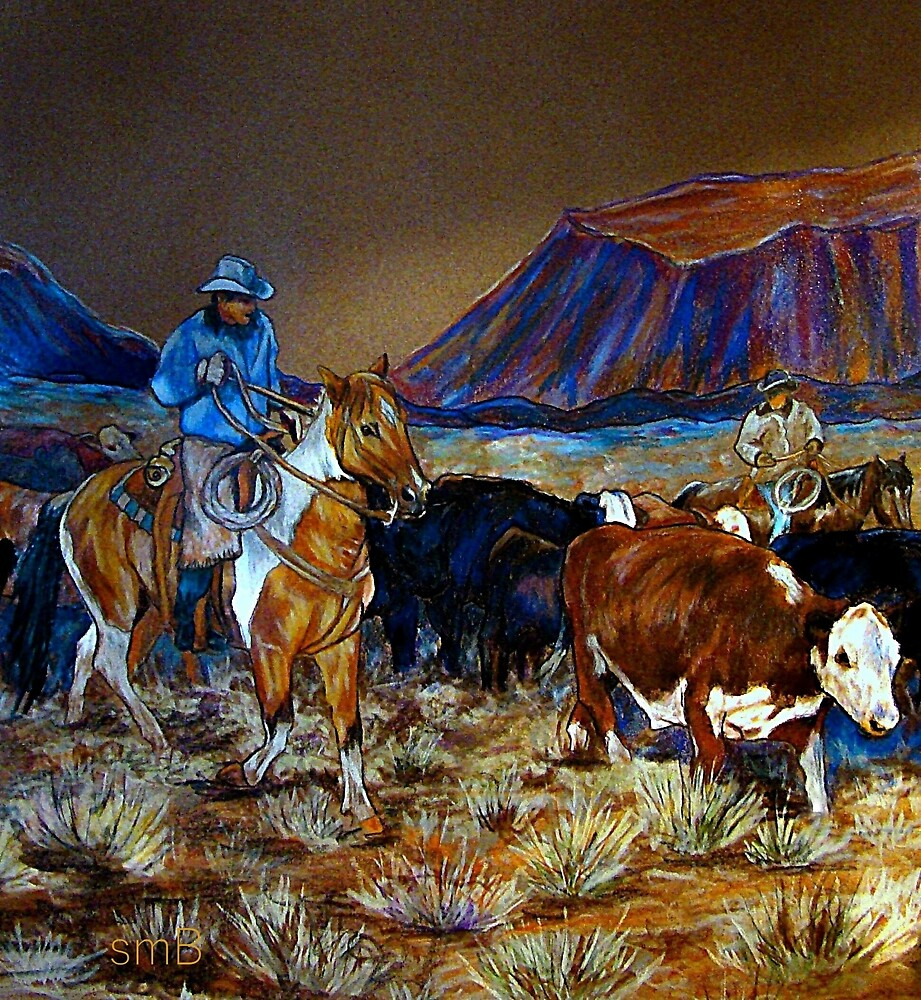 """Evening Roundup"" by Susan Bergstrom"