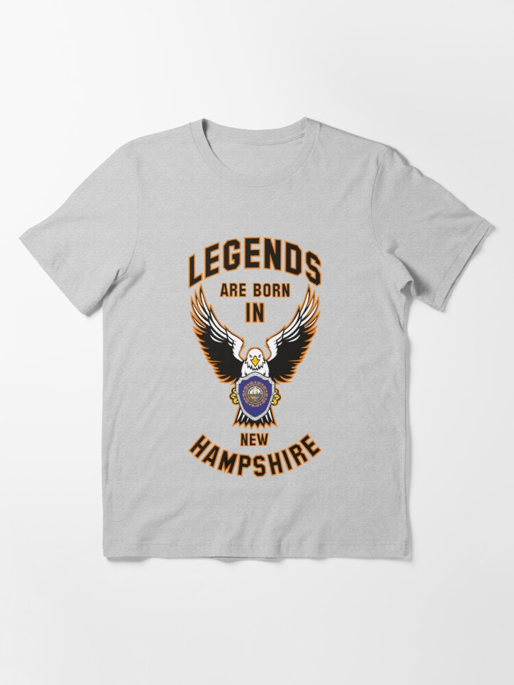 Alternate view of Legends are born in New Hampshire Essential T-Shirt