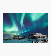 Aurora farm Photographic Print