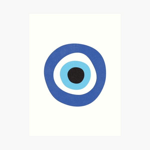 Evil Eye Protection Symbol Art Print
